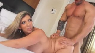 PAWG Milf Sara Jay Wrecked By Hard Cock Muscle Man!